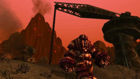 A war golem guarding Pyrox Flats