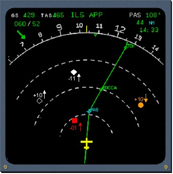 aircraft radar screen